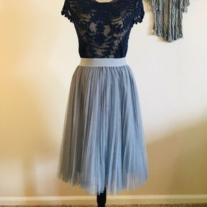 Dresses & Skirts - Grey Tulle Maxi Skirt ONE SIZE